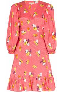 Bytimo Vestido Envelope Com Estampa Floral - Rosa