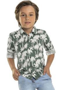 Camisa Infantil Tropical Verde
