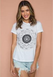 T-Shirt Astral Sislla Feminina - Feminino-Branco