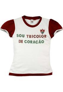 7614537c28 Baby Look Texto Glitter Meia Malha Menina Fluminense Reve Dor - 4 Anos -  Feminino