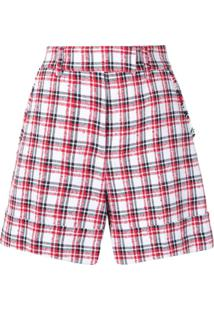 Thom Browne Tweed Check Tailored Shorts - Vermelho