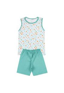 Pijama Regata Infantil Âncora Branco 841 - Kappes