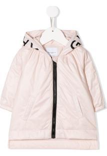 Givenchy Kids Casaco Com Capuz E Logo - Rosa