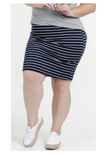202a72fcff Saia Feminina Listrada Bolso Plus Size Luktal