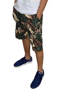 Bermuda Casual Masculina Estampada Camuflado Conforto Dia A Dia
