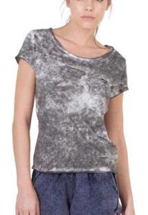Camiseta Slim Brohood Mix Feminina - Feminino-Branco+Cinza