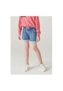 Bermuda Jeans Infantil Menina