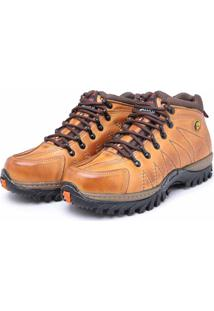 Bota Adventure Em Couro Dr Shoes Caramelo
