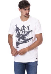 Camiseta Long Island Waves Masculina - Masculino-Branco 12b246499ed