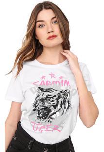 Camiseta Carmim Tiger Branca