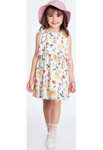 Vestido Infantil Bege