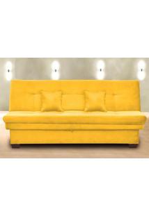 Sofá Cama 3 Lugares Filó Com Baú 00021.0372 Amarelo - Matrix