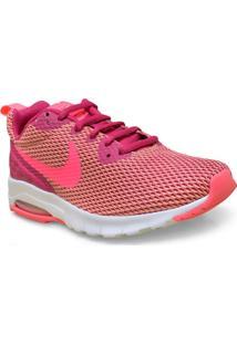 Tenis Fem Nike 844895-601 Air Max Motion Lw Rosa Neon/Roxo