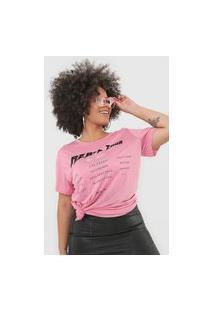 Camiseta Colcci Rebel Rosa