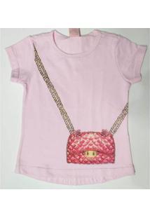 Blusa Infantil Quebra Cabeça Verão Bolsa Feminina - Feminino