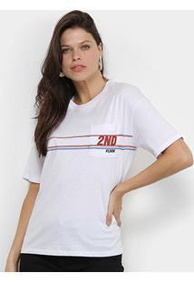 Camiseta Ellus 2Nd Floor Lines Feminina - Feminino