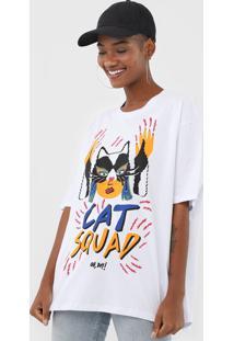 Camiseta Oh, Boy! Cat Squad Branca