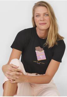 Camiseta Cantão Chocolate Preta - Kanui