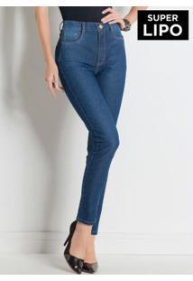 Calça Legging Sawary Jeans Com Cinta Modeladora