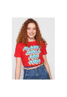 Camiseta Planet Girls For You Vermelha