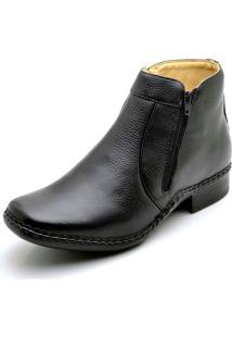 Botina Clube Do Sapato De Franca Premium Louvre Preta
