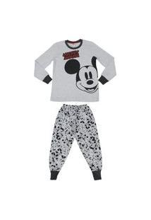 Pijama Longo Mickey Evanilda