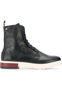 Tommy Hilfiger Leather Ankle Boots - Azul