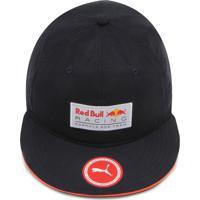 Boné Puma Snapback Red Bull Rbr Lifestyle Flatbri Azul-Marinho 79b44d15a03