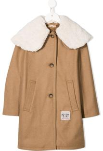 Nº21 Kids Trench Coat Longo - Neutro