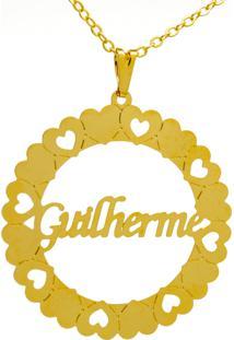 Gargantilha Horus Import Mandala Guilherme Banho Ouro Amarelo 18 K - 1060043