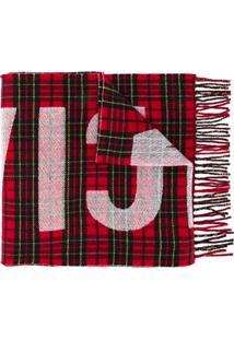 Balenciaga Echarpe Estampado Com Logo - Vermelho