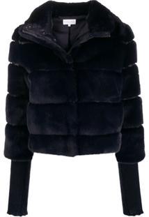 Patrizia Pepe Faux-Fur Bomber Jacket - Azul