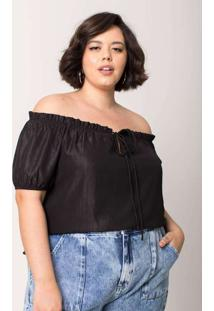 Blusa Ombro A Ombro Almaria Plus Size Tal Qual Ama