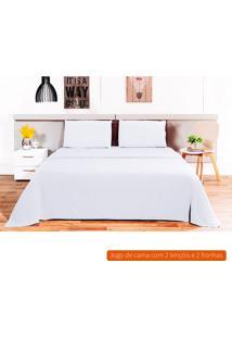 Jogo De Cama King Size Loft Branco 260X280 Cm