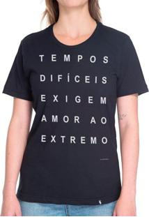 Tempos Difíceis #Cestabasica - Camiseta Basicona Unissex