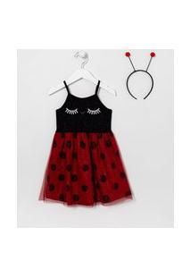 Vestido Infantil Joaninha - Tam 1 A 5 Anos | Póim (1 A 5 Anos) | Multicores | 04