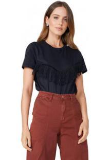 Camiseta Amaro Franjas Feminina - Feminino