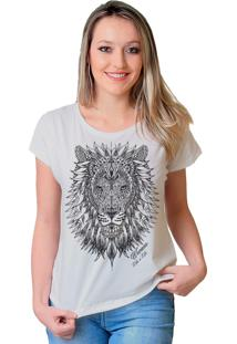 Camiseta Wevans Leão Tattoo Branco
