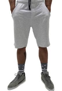 Bermuda Q Clothing Basic Line Cinza Claro