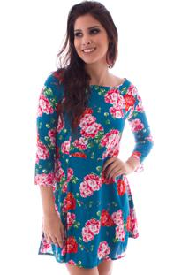 Vestido Lon Camisete Floral