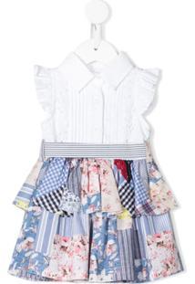 Lapin House Vestido Sem Mangas Com Patchwork - Branco