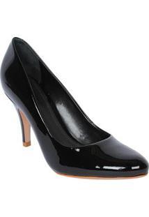 Schutz Sapato Tradicional Envernizado Preto Salto: 8,5Cm