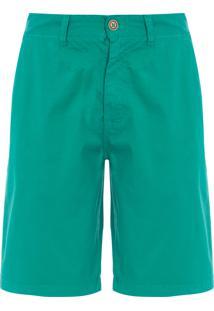 Bermuda Masculina Casual Fio Tinto - Verde