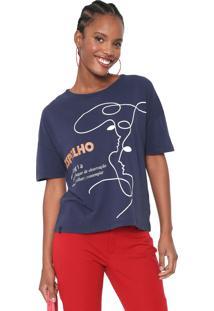 Camiseta Cantão Etimologia Espelho Azul-Marinho