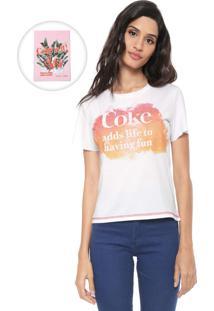 Camiseta Coca-Cola Jeans Mullet Branca