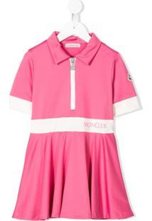 Moncler Kids Vestido Polo Mangas Curtas - Rosa