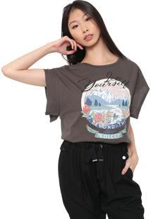 Camiseta Colcci Estampada Grafite