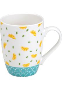 Caneca Lemons - Amarela & Azul- 330Mlbon Gourmet
