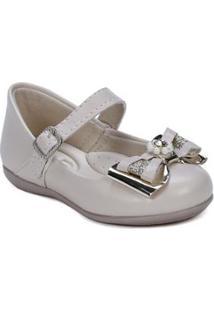 Sapato Bebê Meli Feminino - Feminino-Nude