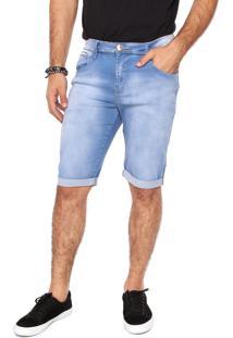 Bermuda Jeans Osmoze Reta Estonada Azul